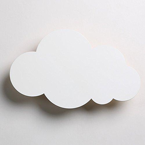 Neilyn Einfache moderne Cartoon kreative LED Wandleuchte Wandleuchte Schlafzimmer Nachttischlampe Mädchen Cute Cartoon Kinder Wandleuchte personalisierte Cloud Form Wandlaterne (Color : White)