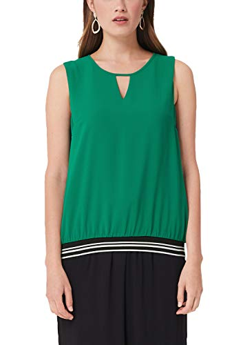Double-layer Tunika (s.Oliver RED LABEL Damen Double Layer-Bluse mit Rippbund Green 46)