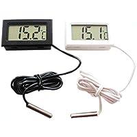 Monbedos Termómetro Digital LCD de Temperatura e higrómetro con sonda y Herramienta de medición de Temperatura