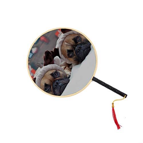 Alter Mann Händen Kostüm - WYYWCY Hund tragen Weihnachten Kostüme chinesischen Alten Fan klassischen Palast Paddel Fan Tanz Fan chinesischen Fan Männer Hand Fan Spielzeug Fans chinesischen tragbaren Hand Fan
