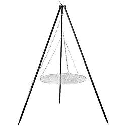FARMCOOK Schwenkgrill NOBEL Dreibein mit Grillrost aus Edelstahl in 4 Größen (Ø 70 cm)