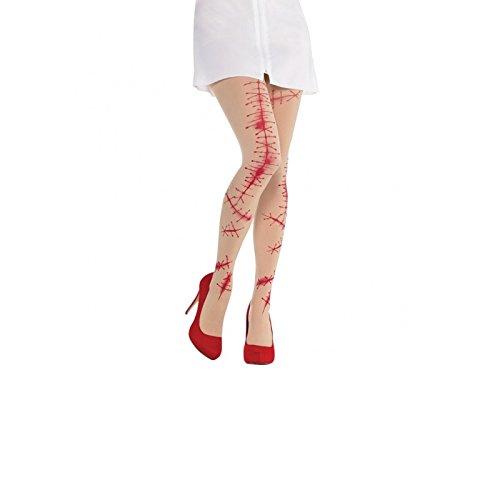 NEU Strumpfhose blutige Narben, Einheitsgröße (Krankenschwester Kostüm Für Kleinkinder)