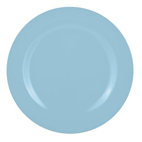 Zak Designs 2170-0841 Assiette Creuse Barbecue Bleu Ciel 24 cm