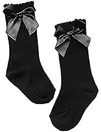 Chaussettes Hautes à papillon en coton antidérapantes mignonnes pour bébés Enfant