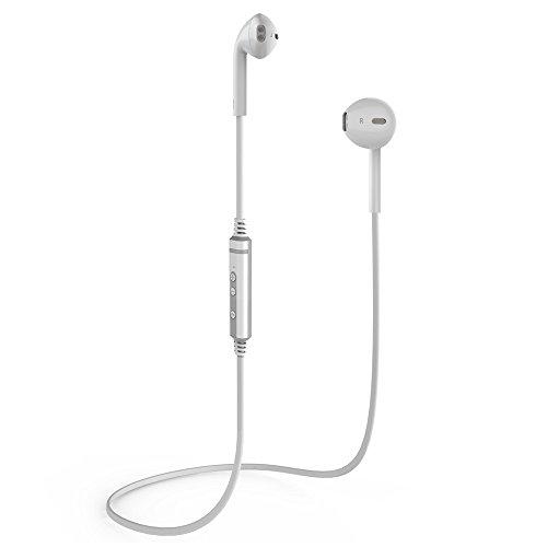 Bluetooth Kopfhörer Wireless Kopfhörer Sport Kopfhörer In Ear Kopfhörer Geräuschunterdrückung Bluetooth 4.1 Hoch Qualität mit HD Technologie Freisprechen für Alle Smartphones (Weiss)