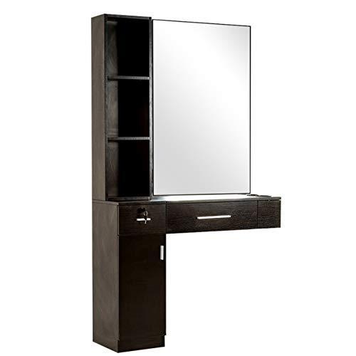 Barberpub piazza sostituzione specchio quadrato tavolo parrucchiere tavolo armadietto a specchio