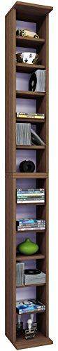 VCM 24010 Bigol Système d'Archivage pour 204 CDs Bois Chêne Rustique 183 x 21 x 20 cm