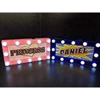 CHOLE Childrens LED Personalised Name In Lights room Sign