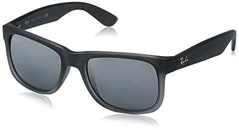 Ray Ban Unisex Sonnenbrille Justin Classic, Gr. Medium (Herstellergröße: 51), Grau (Gestell: Dunkelgrau, Gläser: Grau Verlauf 852/88)