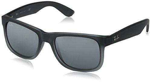 RAYBAN Unisex Sonnenbrille Justin Gestell: Dunkelgrau, Gläser: Grau Verlauf 852/88), Medium (Herstellergröße: 51)