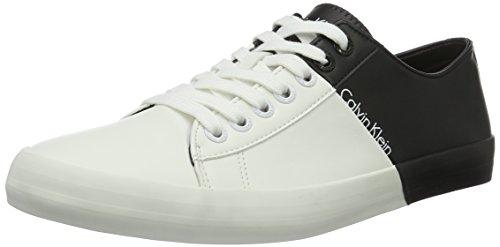 Calvin Klein Jeans Byron, Chaussures de tennis homme Multicolore (White/Black)