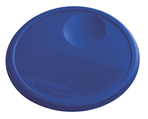 Rubbermaid Commercial Food Storage Container Lid, Round, Blue, 11.4 L