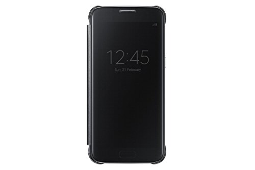 Samsung Clear View Cover Hülle EF-ZG930 für Galaxy S7, schwarz