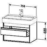 Duravit Waschtischunterschrank Ketho 440x75x410mm für 045480, graphit matt, KT663704949