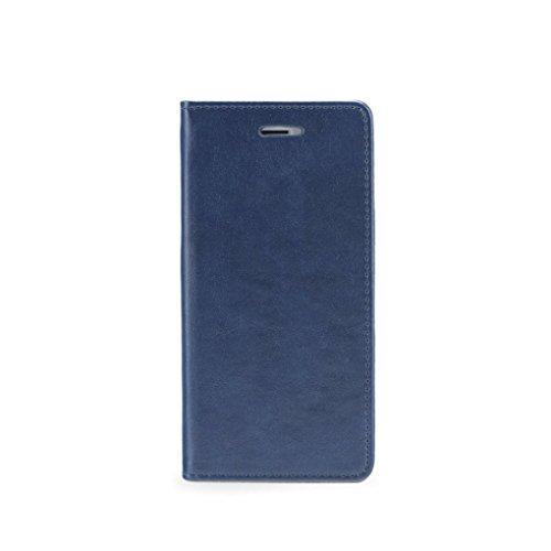 Magnet Book Case - APPLE IPHONE 6 schwarz dunkel blau / navy blue