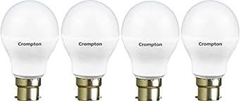Crompton 9WDF B22 9-Watt LED Lamp (Cool Day Light and Pack of 4)