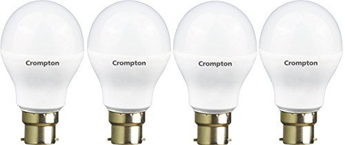 Crompton Base B22 9-Watt LED Lamp (Pack of 4, Cool Day Light)