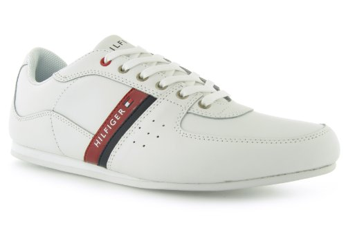 Tommy Hilfiger  Ross, Baskets mode pour homme Blanc blanc Blanc - blanc / bleu marine