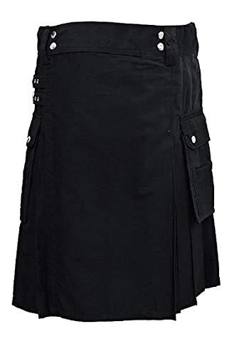 SHYNE KILTS U.K Herren Schotten Rock Gr. 97 cm, schwarz