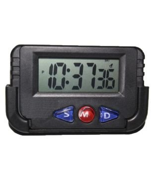 Dishan Digital Lcd Alarm Table Desk Car Calendar Clock Timer Stopwatch  available at amazon for Rs.229