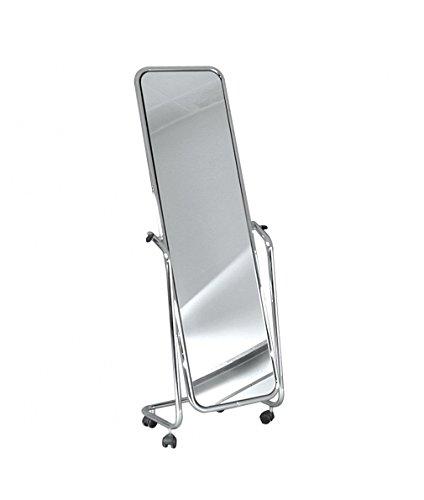 Metalarredo specchio con ruote orientabile da terra o a parete da 150 cm