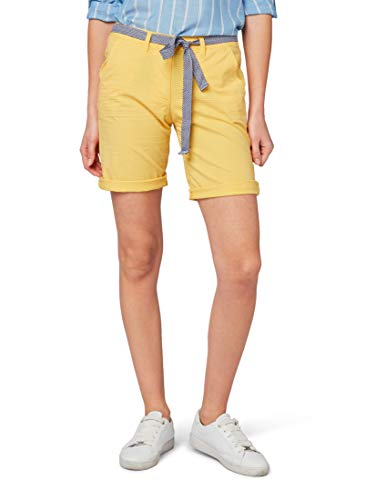 TOM TAILOR für Frauen Hosen & Chino Relaxed Chino Bermuda Shorts Daylily Yellow, 38 Relaxed Fit Chinos