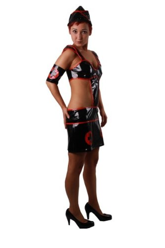 Militäry Krankenschwester Nurse Ärztin Karneval Fasching Fastnacht Kostüm 32 - 36, Kleidergr. Damen:32-36 (De Office Kostüm Dama)