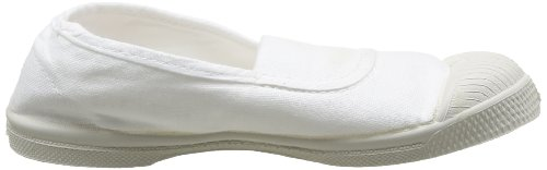 Bensimon Tennis Elastique, Baskets mode mixte enfant Blanc (Blanc 101)
