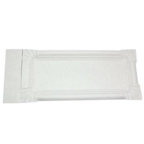 250 x Pappteller m. Abriss weiß Bratwurst - Pappen von Gastro-Bedarf-Gutheil