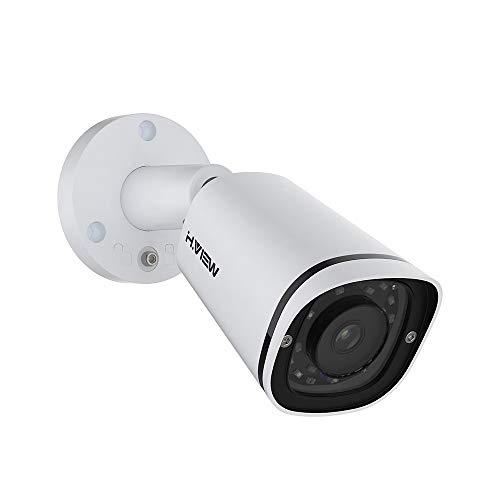 H.VIEW PoE Kamera 5MP IP Überwachungskamera Bullet 2592x1944P HD mit Audio für Außen/Ihnen Wetterfest IP67 ONVIF Tag/IR Nachtsicht Bewegungserkennung Super Ir-wetterfeste Kamera