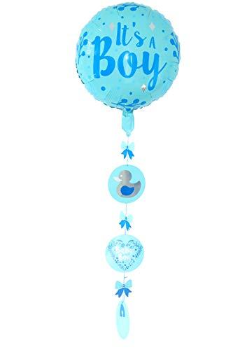 first-us Folienballon Folien Ballon Ballons mit Hänger Helium Its A Boy Baby Geburt Party Feste Feier Eventdekoration Besondere Anlässe Geburtstag Neu (Baby Ballon Boy)
