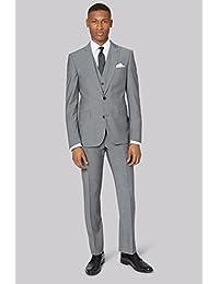 DKNY Men`s Slim Fit Light Grey 2 Piece Suit