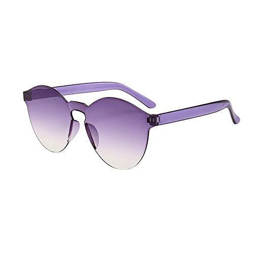 Lazzboy Frauen Männer Mode Klar Retro Sonnenbrillen Outdoor Rahmenlose Brillen Vintage Polarisierte Sonnenbrille Für Damen Herren Schutz Ultraleicht Rahmen(N)