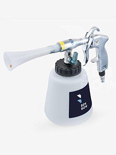Preisvergleich Produktbild BENBOW Druckluft Reinigungspistole - 02 - Innenreiniger mit TORNADO EFFEKT Hochdruck Waschpistole Polsterreiniger für Autopflege autositze reiniger plastikreiniger textilreiniger reinigungsgerät