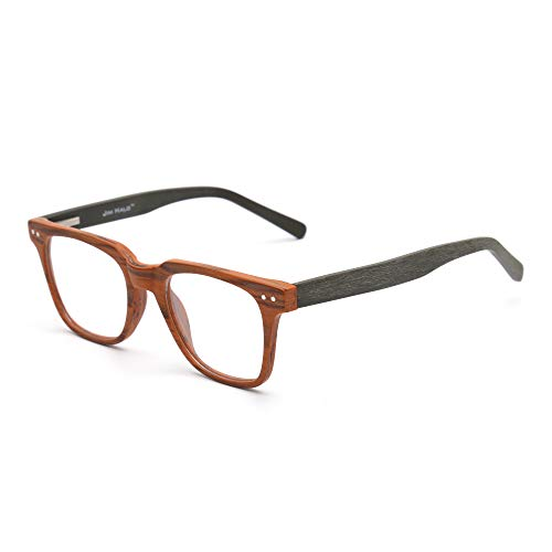 Platz Holz Optische Brillen Rahmen RX-fähig Federscharnier Gläser für Damen Herren Braun