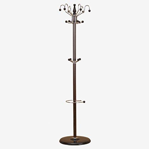 HXGL-coat rack Boden-Kleiderständer-Schlafzimmer-Büro-Aufhänger-Vertikaler Einfacher Kleiderständer-Schwarze Walnuss (Produkt Enthält Nur Kleiderstange)