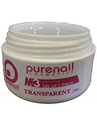 Gel UV monophase 3 en 1 FLUIDE faux ongles base construction, transparent 15 ml, Professionnel, TOP PROMO