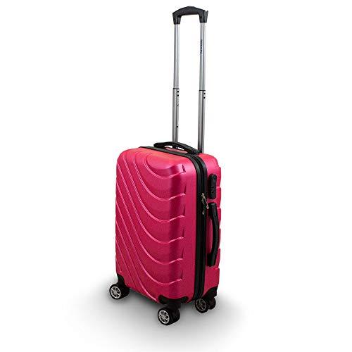 Trolley Hartschalen Koffer Hartschalenkoffer Hardcase Größe M - Modell Wave 2018 (Pink)