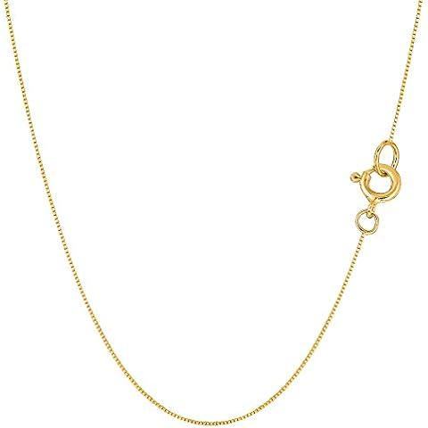 JewelryAffairs - Catena veneziana classica in oro giallo 18 K, spessore 0,45 mm