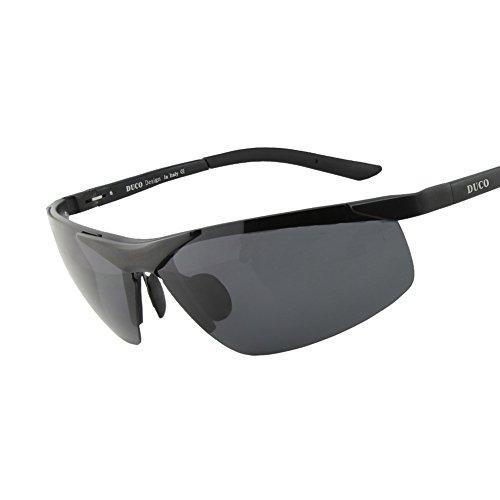 Duco Sport Stil Sonnenbrille Polarisiert Herren Treiber Glasses 6806S (Schwarz, Grau)