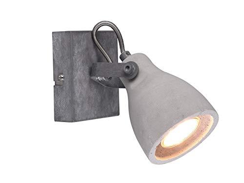 MiniSun Abat-jour de plafond en béton orientable avec LED GU10