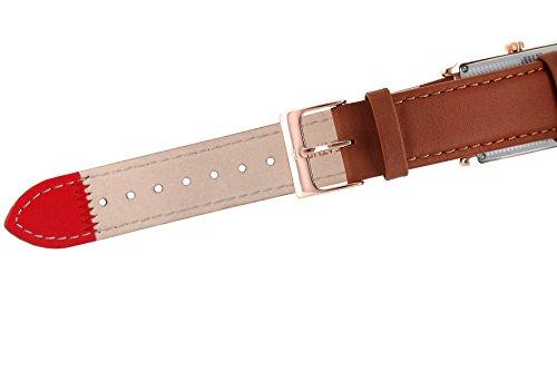 Yonger & Bresson–UNHCR 1706–72–Herrenuhr–Quarz–Analog Zifferblatt Beige–Armband Leder braun - 3