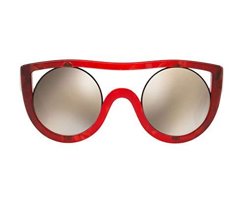 Alain mikli occhiali sole rossi ayer a05034 002/6g donna/uomo rosso e madreperla