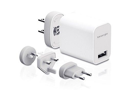 Innergie ADP-10JW RB Power Travel Kit Plus - USB-Wandadapter (10 W) mit austauschbaren Stecker weiß (Travel Ipod Kit)