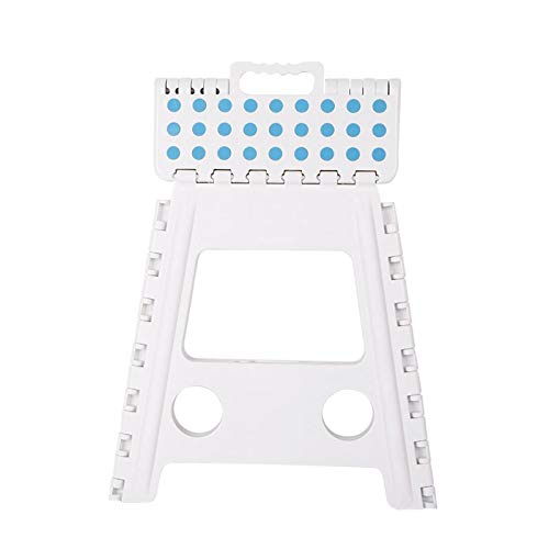 WYFDM Klappstuhl, Erwachsener tragbarer Kleiner Bank-Karikatur-Quadrat-Plastikdicker Klappstuhl im Freien, 11X8.5X15 Zoll, bis zu 250 Pfund,White 11 X 11-quadrat