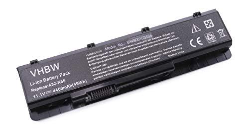vhbw Li-Ion Akku 4400mAh (11.1V) für Notebook Laptop Asus N55EI 243SF-SL, N55S, N55SF, N55SF-A1, N55SF-S1150V wie A32-N55, 07G016HY1875. -
