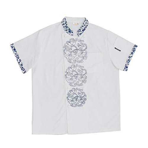 KESOTO Abbigliamento Per Camicie Da Lavoro Per Camicie Da Cuoco A Maniche Corte Da Ristorante Cinese Antico