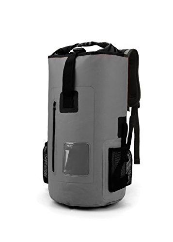 30L Roll Top Rucksack Backpack Packsäcke Dry Bag Sack Wasserdicht Regenschutz (Grau) (Roll-top-dry Bag)