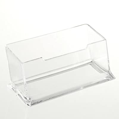 TOOGOO(R) New Clear Desktop Business Card Holder Display Stand Acrylic Plastic Desk Shelf