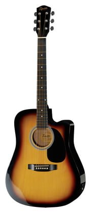 Fender 0930307006 SA-105CE Dreadnought - Guitarra eléctrica, color negro